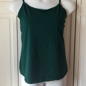 Lane Bryant forest green cotton camisole, 18/20